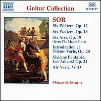 Sor: Guitar Music, Opp. 17-21 - Margarita Escarpa (guitar)