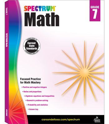 Spectrum Math Workbook, Grade 7 - Spectrum (Compiled by)
