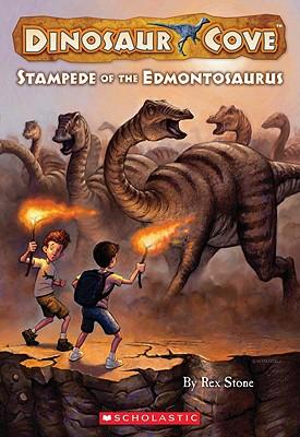 Stampede of the Edmontosaurus - Stone, Rex