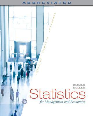 Statistics for Management and Economics, Abbreviated - Keller, Gerald
