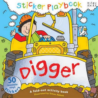 Sticker Playbook - Digger: A Fold-Out Story Activity Book for Toddlers -