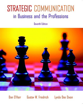 Strategic Communication in Business and the Professions - O'Hair, Dan