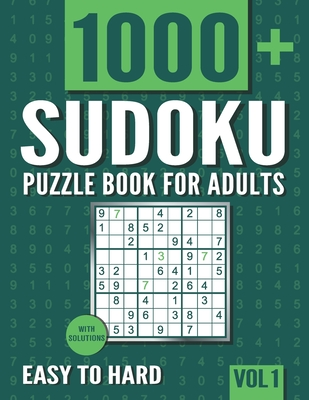 Sudoku Puzzle Book for Adults: 1000+ Easy to Hard Sudoku Puzzles with Solutions - Vol. 1 - Books, Visupuzzle
