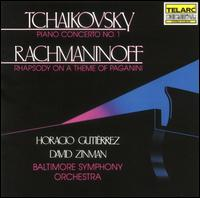 Tchaikovsky: Piano Concerto No. 1; Rachmaninoff: Rhapsody on a Theme of Paganini - Horacio Gutiérrez (piano); Baltimore Symphony Orchestra; David Zinman (conductor)
