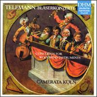 Telemann: Bläserkonzerte - Anke Vogelsanger (violin); Anne Röhrig (violin); Camerata Köln; Ghislaine Wauters-Zipperling (viola); Hajo Bab (viola);...
