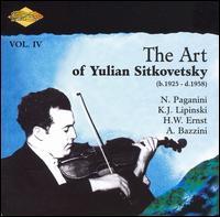 The Art of Yulian Sitkovetsky, Vol. 4 - Bella Davidovich (piano); Julian Sitkovetsky (violin); USSR Radio Symphony Orchestra; Mark Pavermann (conductor)