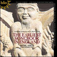 The Earliest Songbook in England - Catherine King (alto); Charles Daniels (tenor); Leigh Nixon (tenor); Rogers Covey-Crump (tenor);...