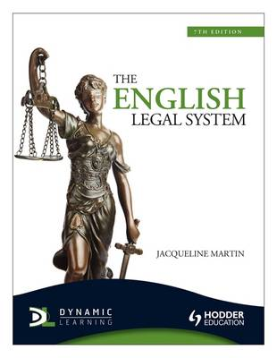 The English Legal System - Martin, Jacqueline