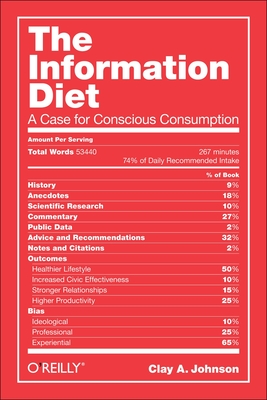 The Information Diet: A Case for Conscious Consumption - Johnson, Clay A