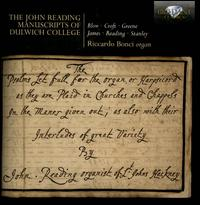 The John Reading Manuscripts of Dulwich College - Riccardo Bonci (organ)