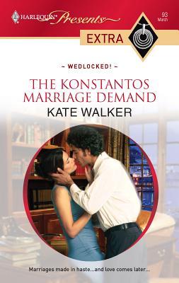 The Konstantos Marriage Demand - Walker, Kate