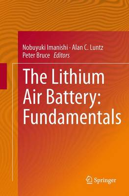 The Lithium Air Battery: Fundamentals - Imanishi, Nobuyuki (Editor)