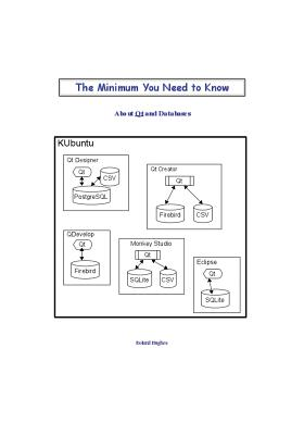 The Minimum You Need to Know about Qt and Databases - Hughes, Roland