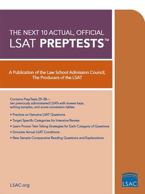 The Next 10 Actual, Official LSAT Preptests - Law School Admission Council (Creator)
