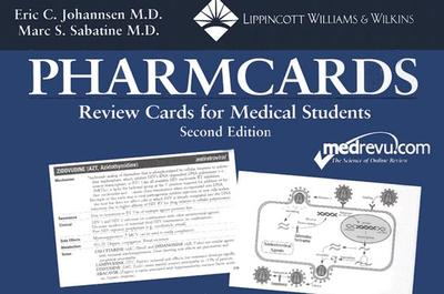 The Pharmcards: Review Cards for Medical Students - Johannsen, Eric C, and Sabatine, Marc S