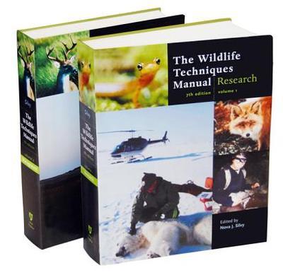 The Wildlife Techniques Manual: Volume 1: Research. Volume 2: Management 2-Vol. Set - Silvy, Nova J (Editor)
