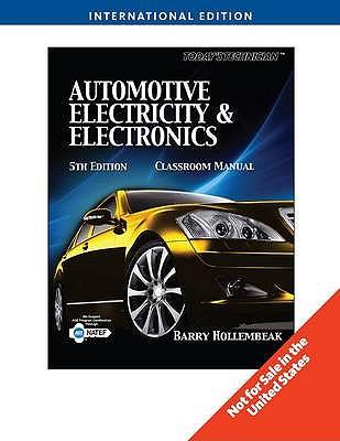 Today's Technician: Automotive Electricity & Electronics - Hollembeak, Barry