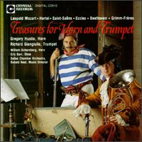 Treasures for Horn a nd Trumpet - Dallas Chamber Orchestra (chamber ensemble); David Battey (horn); Eric Barr (oboe); Gregory Hustis (horn);...
