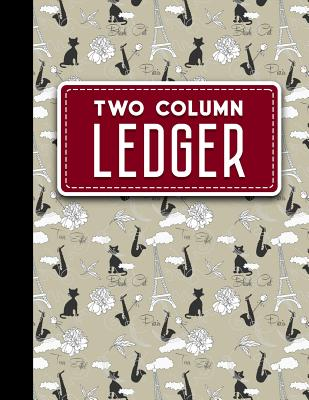Two Column Ledger: Accountant Notepad, Accounting Paper, Ledger Notebook, Cute Paris & Music Cover, 8.5 x 11, 100 pages - Publishing, Moito