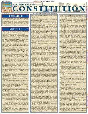 U.S. Constitution: Reference Guide - BarCharts, Inc.