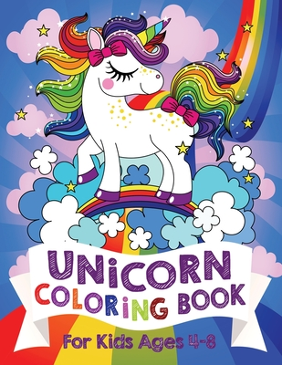 Unicorn Coloring Book For Kids Ages 4-8 (US Edition) - Bear, Silly