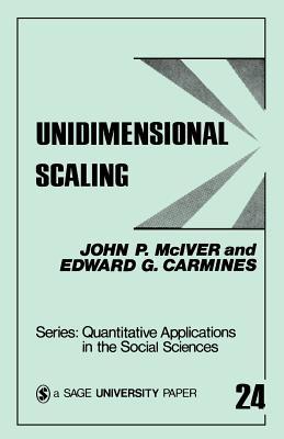 Unidimensional Scaling - McIver, John P