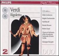 Verdi: Rigoletto - Armando Gabba (baritone); Edita Gruberová (vocals); Edita Gruberová (soprano); Kurt Rydl (bass); Neil Shicoff (tenor); Neil Shicoff (vocals); Renato Bruson (baritone); Renato Bruson (vocals); Accademia di Santa Cecilia Chorus (choir, chorus)