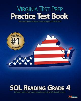 Virginia Test Prep Practice Test Book Sol Reading Grade 4 - Test Master Press Virginia