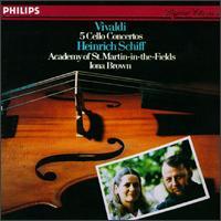 Vivaldi: 5 Cello Concertos - Academy of St. Martin-in-the-Fields; Denis Vigay (cello); Heinrich Schiff (cello); Ian Watson (harpsichord)