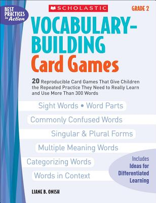 Vocabulary-Building Card Games: Grade 2 - Onish, Liane B