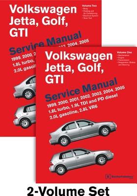 Volkswagen Jetta, Golf, GTI (A4) Service Manual: 1999, 2000, 2001, 2002, 2003, 2004, 2005: 1.8l Turbo, 1.9l Tdi Diesel, Pd Diesel, 2.0l Gasoline, 2.8l Vr6 - Bentley Publishers