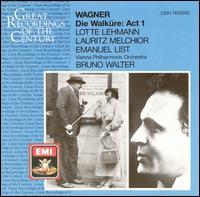 Wagner: Walküre Act 1 - Emanuel List (bass); Lauritz Melchior (tenor); Lotte Lehmann (soprano); Wiener Philharmoniker; Bruno Walter (conductor)
