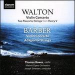 Walton: Violin Concerto; Barber: Violin Concerto