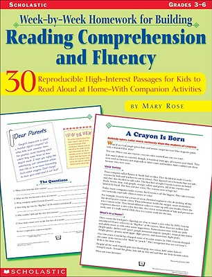 Week-By-Week Homework for Building Reading Comprehension and Fluency: Grades 3-6 - Rose, Mary