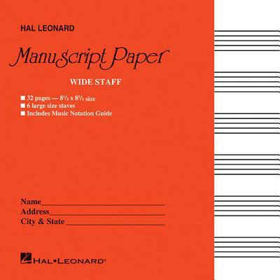 Wide Staff Manuscript Paper (Red Cover) - Hal Leonard Corp (Editor)