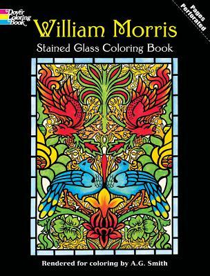 William Morris Stained Glass Coloring Book - Morris, William