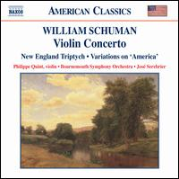 William Schuman: Violin Concerto - Philippe Quint (violin); Bournemouth Symphony Orchestra; José Serebrier (conductor)