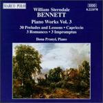 William Sterndale Bennett: Piano Works, Vol. 3