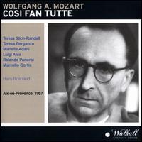 Wolfgang A. Mozart: Cosi fan tutte (Aix-en-Provence, 1957) - Luigi Alva (vocals); Marcello Cortis (vocals); Mariella Adani (vocals); Rolando Panerai (vocals); Teresa Berganza (vocals);...