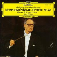 "Wolfgang Amadeus Mozart: Symphonie No. 41 ""Jupiter""; No. 40 - Wiener Philharmoniker; Karl Böhm (conductor)"
