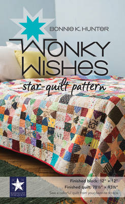 Wonky Wishes Star-Quilt Pattern - Hunter, Bonnie K