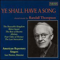 Ye Shall Have a Song - American Repertory Singers (choir, chorus)